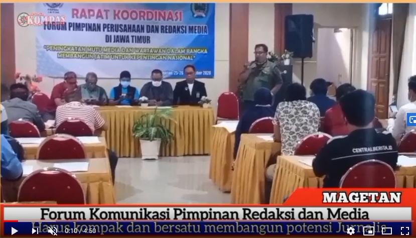 Acara Rakor Forum Komunikasi Pimpinan Perusahaan Redaksi Media