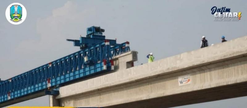 PU Bina Marga Jatim : Progress Pembangunan Jembatan Ploso Baru Capai 76%